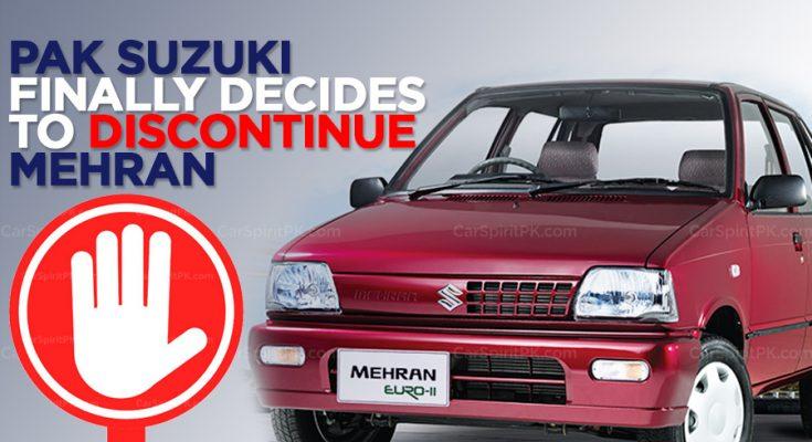 Pak Suzuki to Finally Discontinue Suzuki Mehran 2