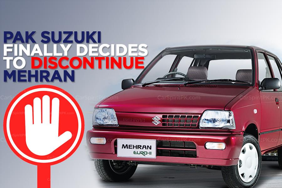 Pak Suzuki to Finally Discontinue Suzuki Mehran 8
