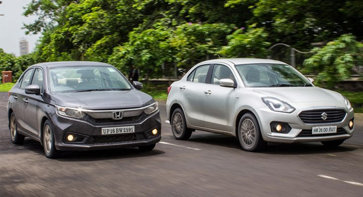 The 2018 Honda Amaze and Suzuki Dzire Subcompacts 1