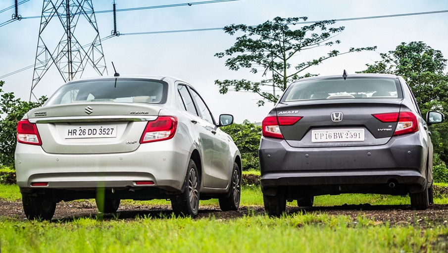 The 2018 Honda Amaze and Suzuki Dzire Subcompacts 5