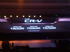 Honda Launches the 5th Gen CR-V in India for INR 28.15 lac 6