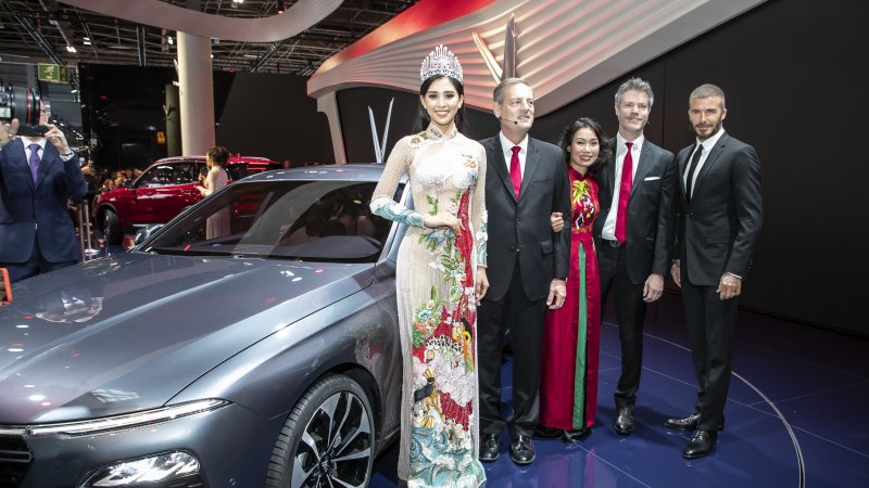 VinFast Unveils Vietnam's First Cars at Paris Motor Show 2