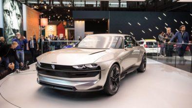 Retro-Styled Peugeot E-Legend Debuts at Paris Motor Show 2