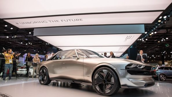 Retro-Styled Peugeot E-Legend Debuts at Paris Motor Show 19