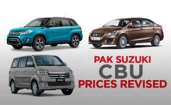 Pak Suzuki Increases its CBU Prices 1