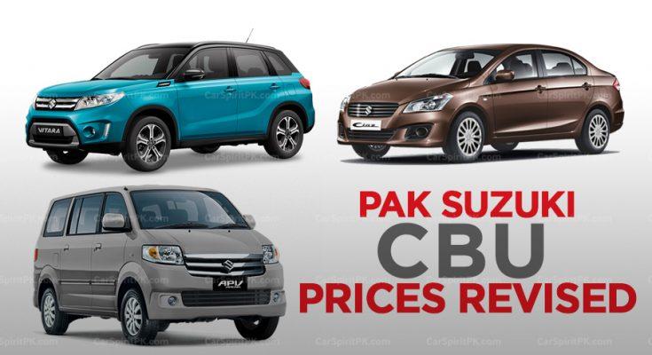Pak Suzuki Increases its CBU Prices 2