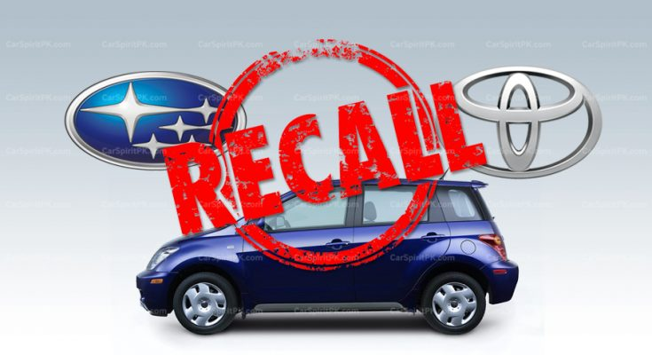 Subaru and Toyota to Recall Over 400,000 Vehicles for Potentially Dangerous Defect 1