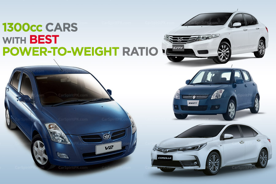 1300cc Cars with Best Power-to-Weight Ratio in Pakistan 2