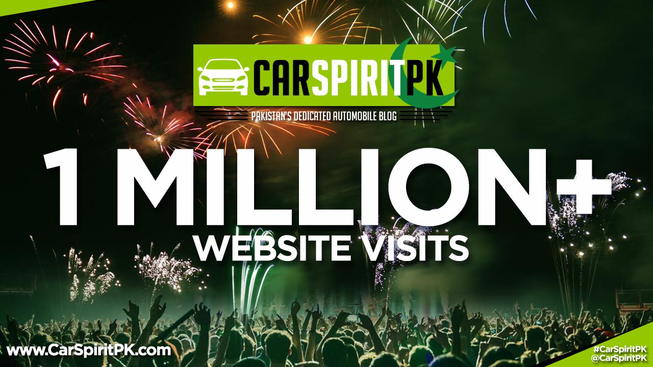 CarSpiritPK Achieves 1 Million Website Visits Milestone 6