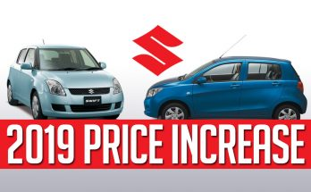Pak Suzuki Prices Increased from 1st January 2019 10