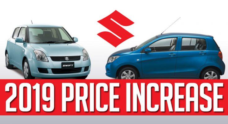 Pak Suzuki Prices Increased from 1st January 2019 1