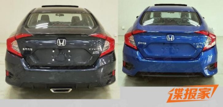2019 Honda Civic Facelift Reaching China 6