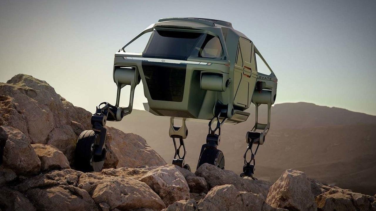 Hyundai Elevate- A Car That Can Walk on 4 Legs 1