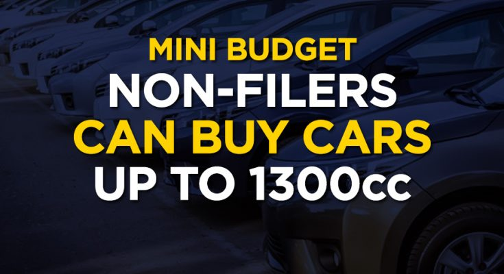 Non-Filers Allowed to Purchase Cars up to 1300cc 1