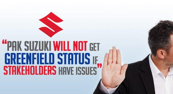 Govt May Not Grant Greenfield Status to Pak Suzuki 1