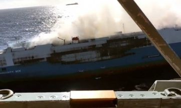 Cargo Ship Carrying 3,500 Nissan Cars Caught Fire 5