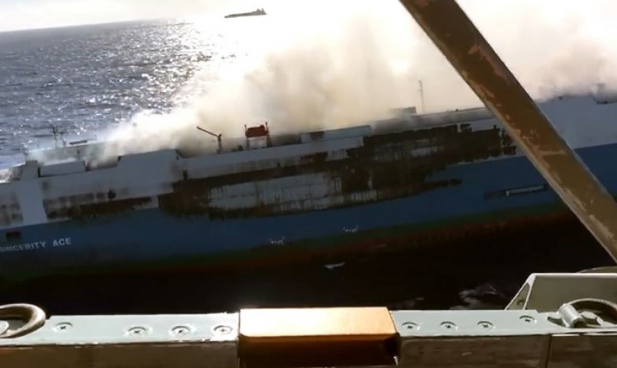Cargo Ship Carrying 3,500 Nissan Cars Caught Fire 2