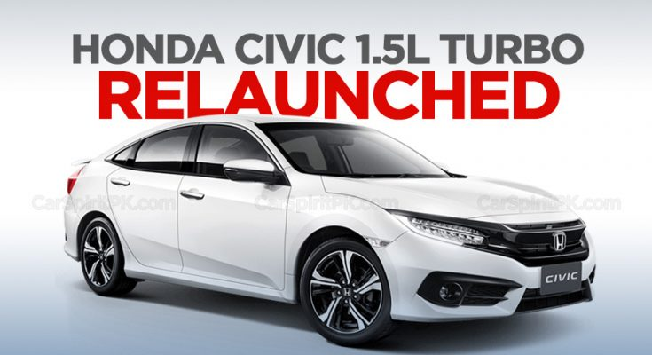 Honda Civic 1.5L Turbo Relaunched 2
