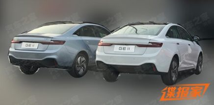 First Spy Shots: Geely GE11 Electric Sedan 14