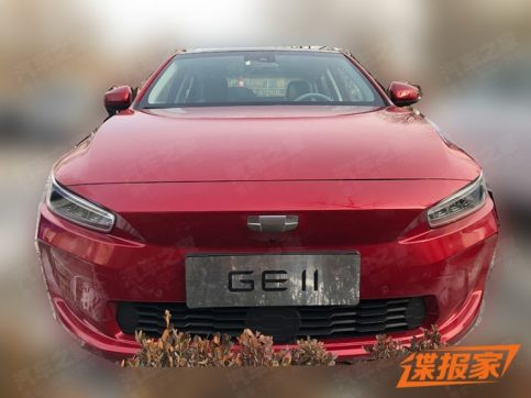First Spy Shots: Geely GE11 Electric Sedan 5