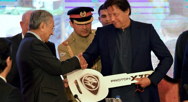 Mahathir Mohammad Gifts Proton X70 SUV to Imran Khan 1