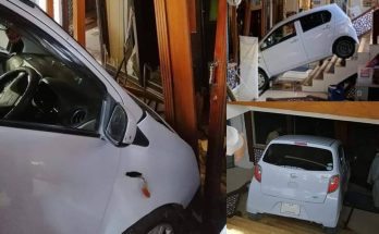 Female Driver Crashes Her Car Into a Restaurant 9