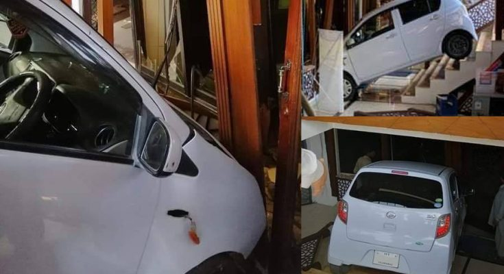 Female Driver Crashes Her Car Into a Restaurant 1