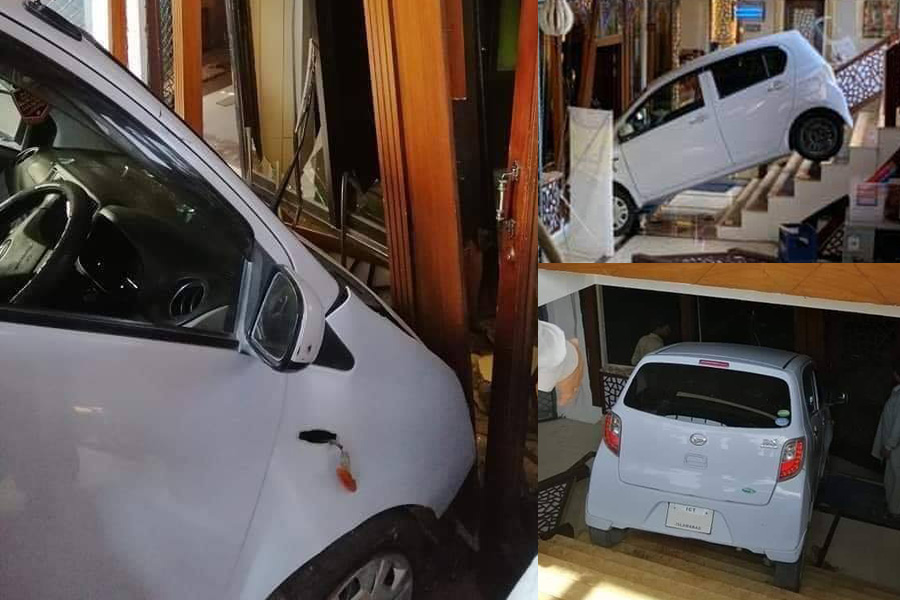 Female Driver Crashes Her Car Into a Restaurant 1