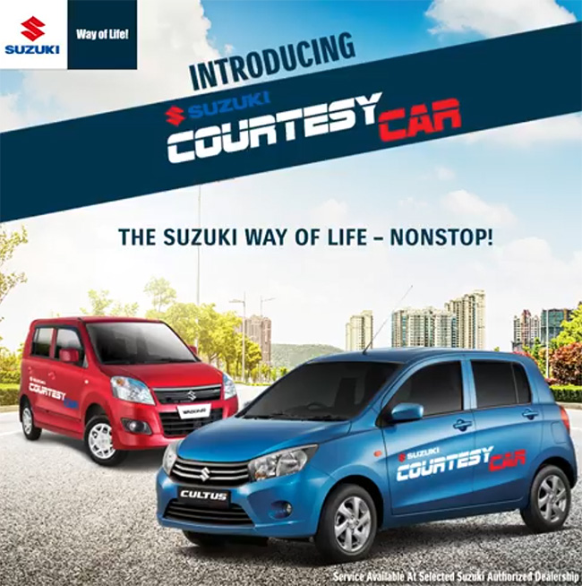 Pak Suzuki Introduces 'Courtesy Car' Facility in Pakistan 2