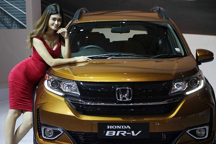 Honda BR-V Facelift at IIMS 2019 1