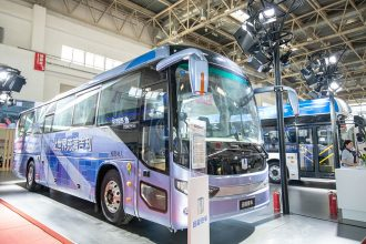 Geely Unveils Hydrogen Fuel Cell Bus 3