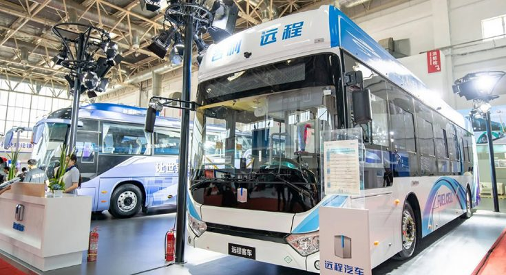 Geely Unveils Hydrogen Fuel Cell Bus 2