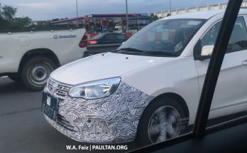 Proton Saga Facelift Spotted Testing in Malaysia 3