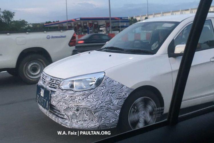 Proton Saga Facelift Spotted Testing in Malaysia 1