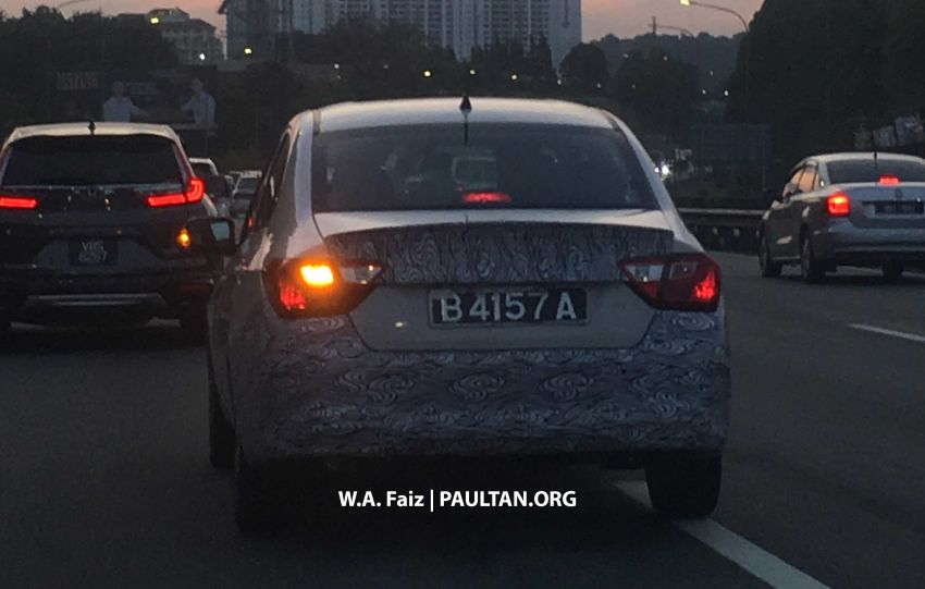 Proton Saga Facelift Spotted Testing in Malaysia 4