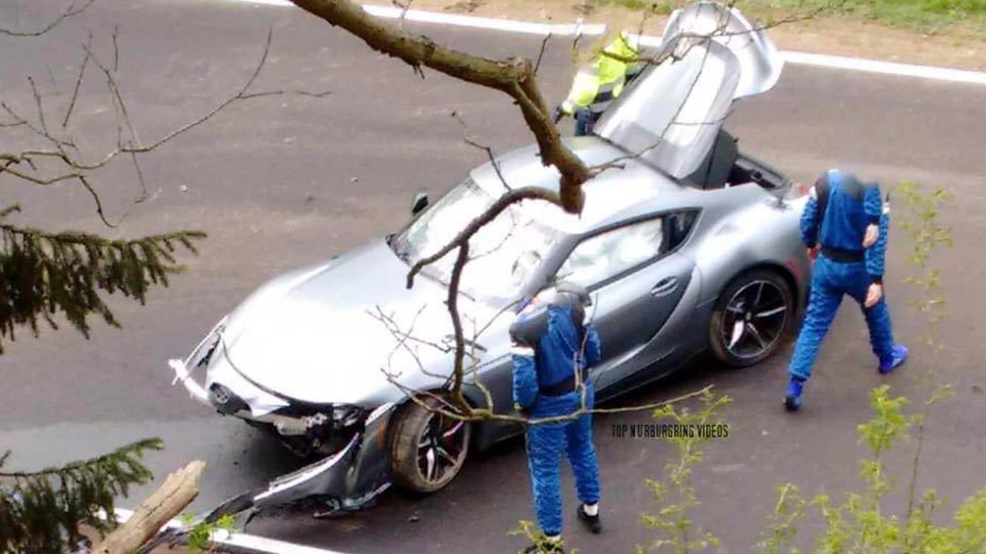 2020 Toyota Supra Crashes at the Nürburgring 1