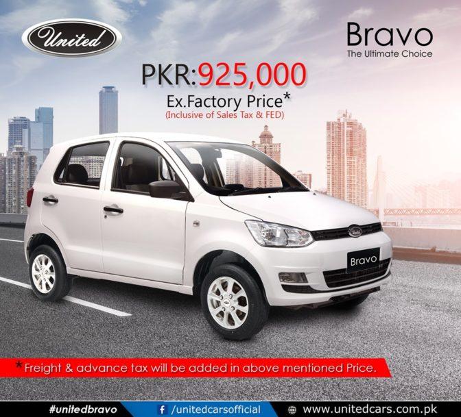 United Bravo Price Increased 1
