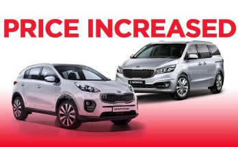 Kia Sportage and Grand Carnival Price Increased 32