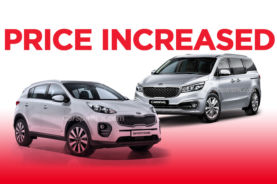 Kia Sportage and Grand Carnival Price Increased 9