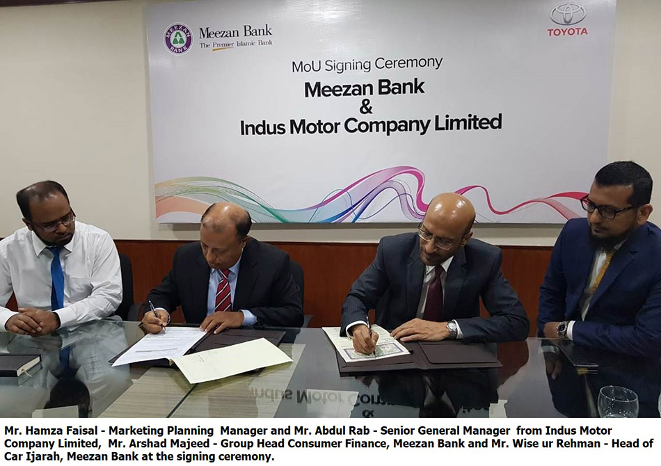 Meezan Bank and Indus Motor Company Sign MoU for Priority Delivery of Toyota Vehicles 5