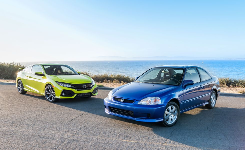 2019 Honda Civic Si Coupe vs 1999 Honda Civic Si Coupe 5
