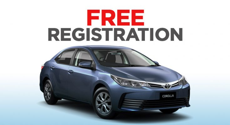 IMC Offering Free Registration on 1.3L Toyota Corolla Variants 1