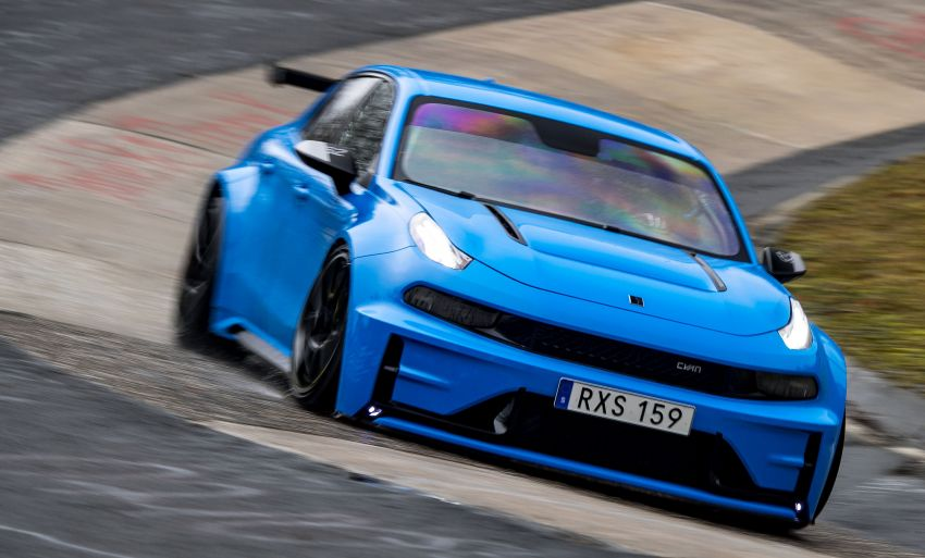 Lynk & Co 03 Cyan Concept Breaks Nurburgring 4-door and FWD Records 5