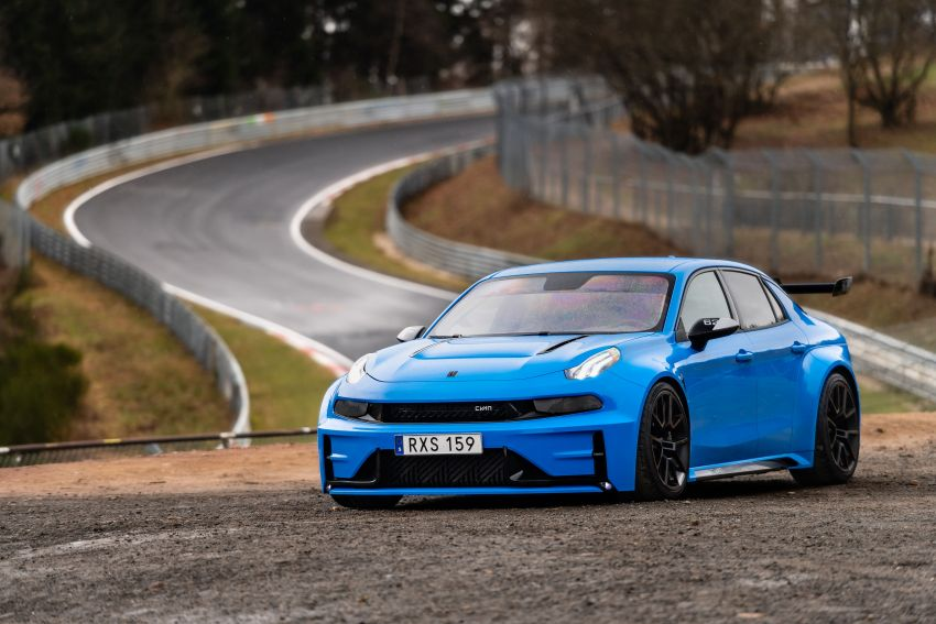 Lynk & Co 03 Cyan Concept Breaks Nurburgring 4-door and FWD Records 2