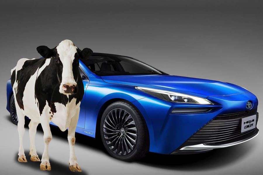 Toyota's New Car can Run on Hydrogen from Cow Manure 3