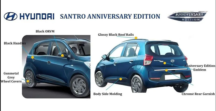 Hyundai Santro Anniversary Edition launched in India at INR 5.12 Lac 5