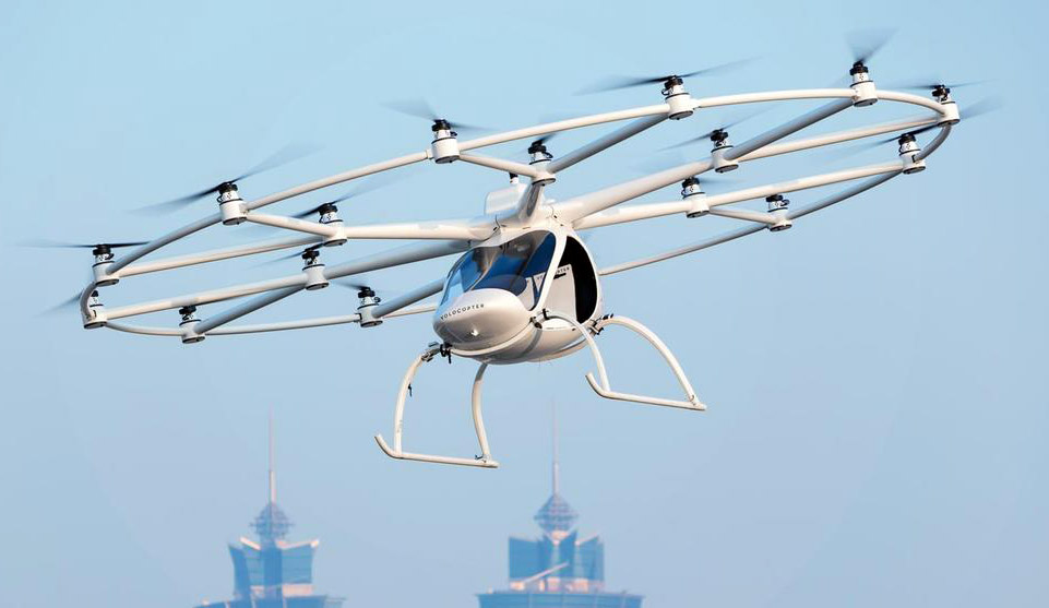 Geely to Launch Air Taxis in China with Volocopter 1