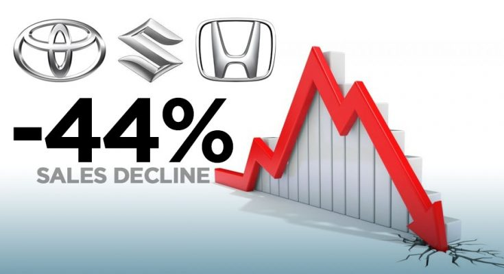 Car Sales Down by 44% Year on Year 1