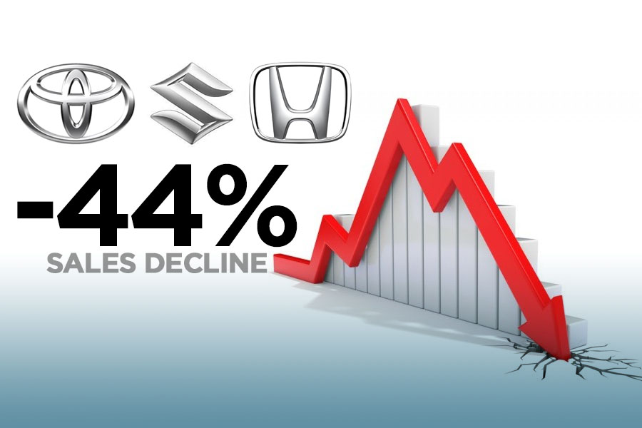 Car Sales Plunged by 44% in November 1