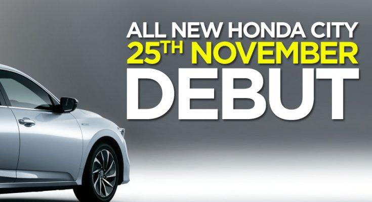 7th Generation Honda City to Debut on 25th November 2